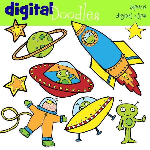 combo outer space digital clip