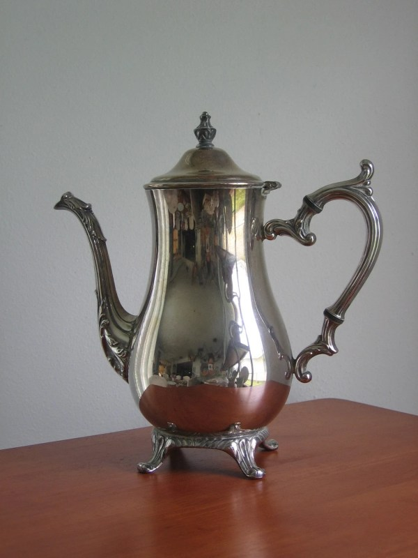 Vintage Wm Rogers 800 Silver Plate Teapot Taylordaisy