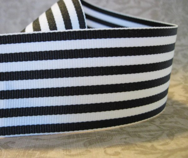 Black And White Striped Grosgrain Ribbon 1 2 Wide