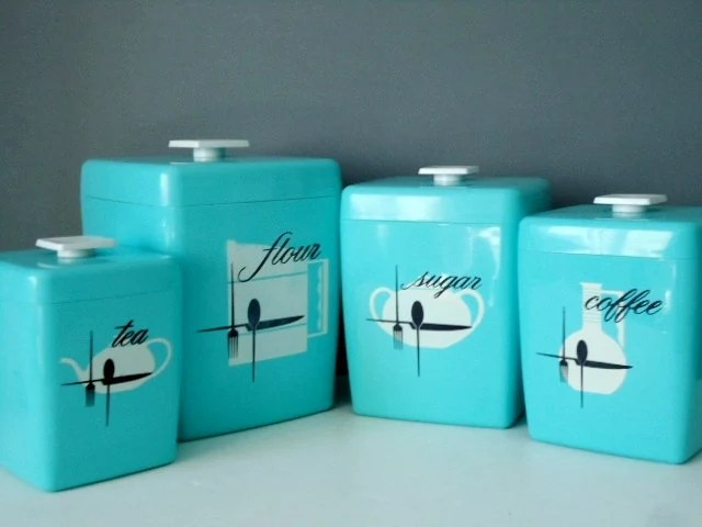 Vintage Retro Kitchen Canisters