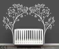 Tree Canopy Portal Wall Decal White tree decal by ...