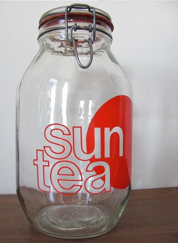 Vintage Glass Sun Tea Jar