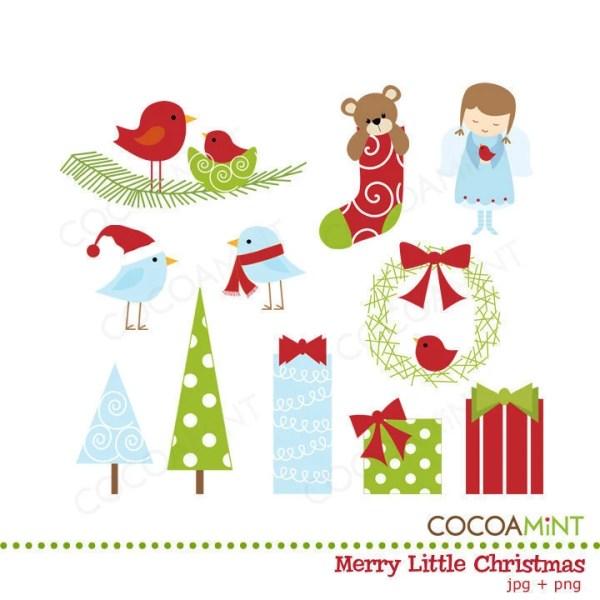 merry little christmas clip art