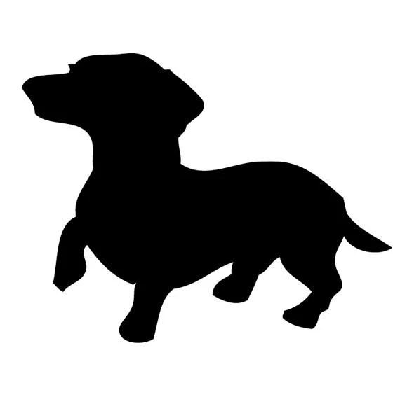 alert dachshund silhouette clip