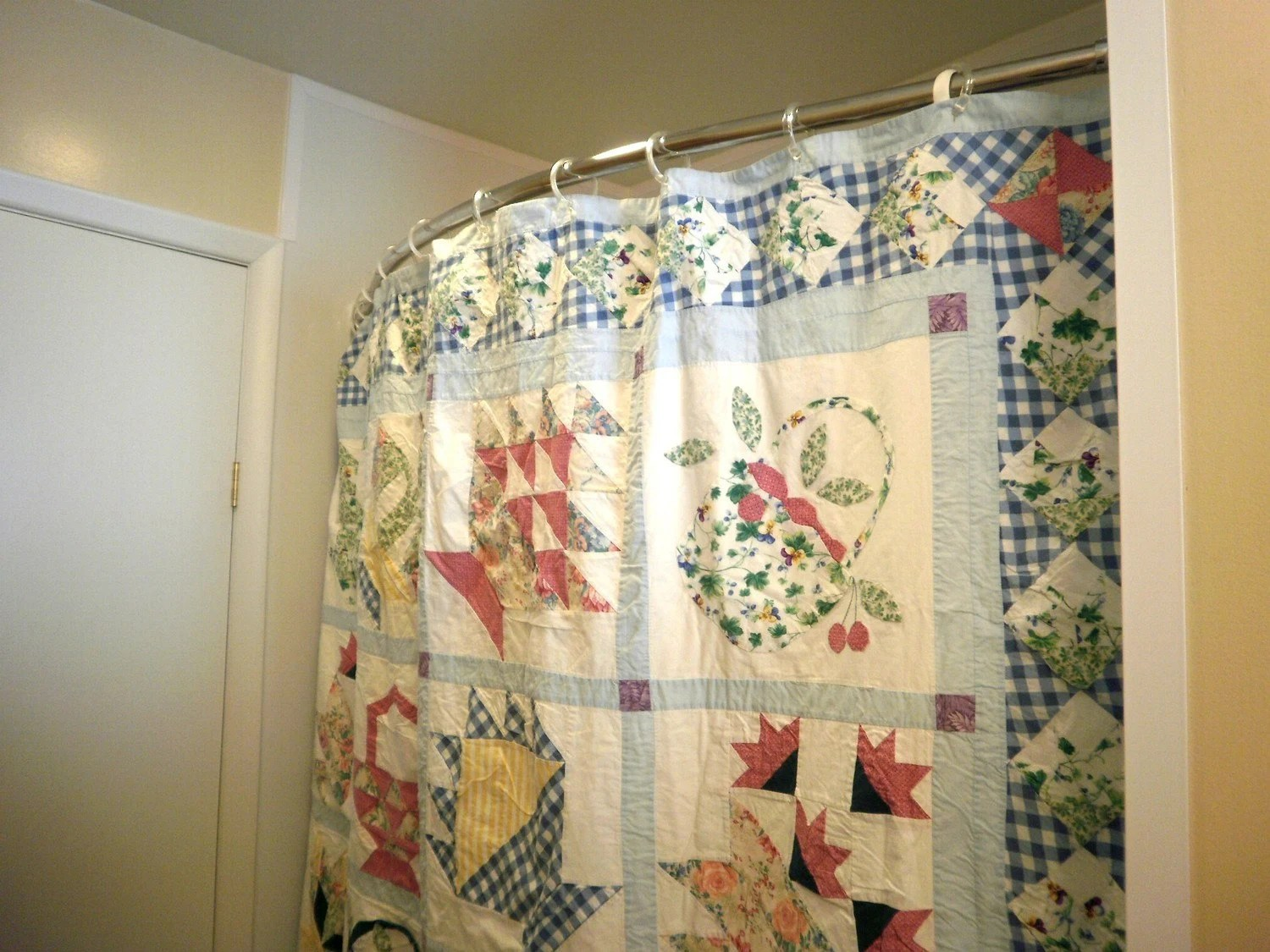 Vintage Quilted Shower Curtain