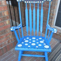 Teacher Rocking Chair White Folding Covers Ebay Antique And Painted Custom By Mrsstjohnsartcamp