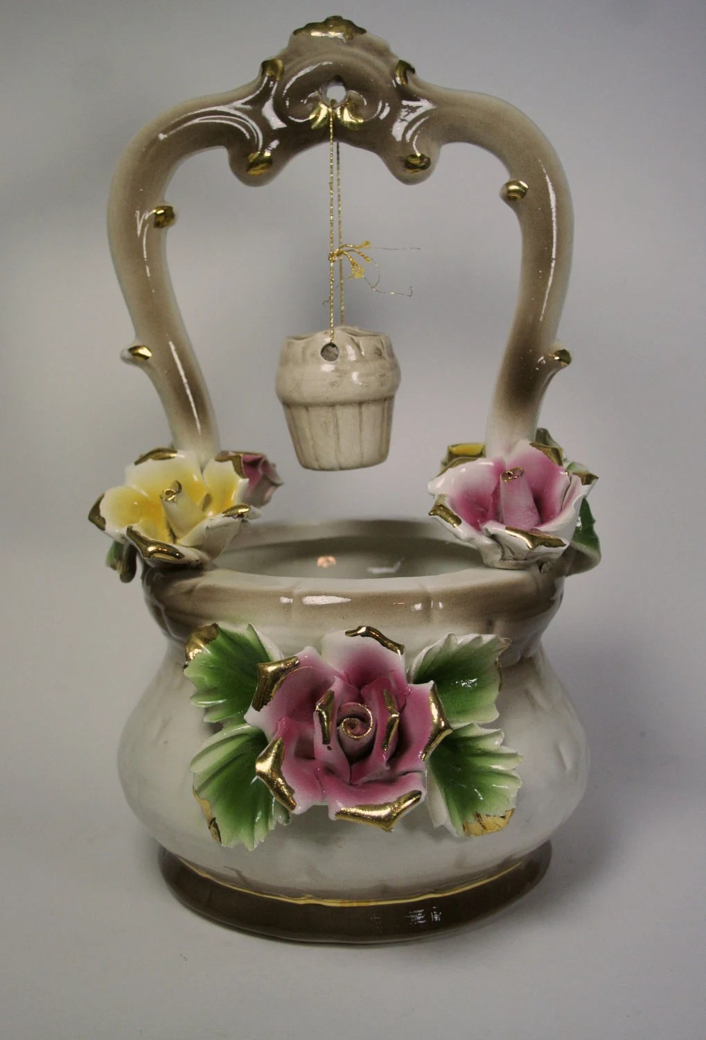 Large Capodimonte Wishing Well Made in Italy by TurtleHillShop