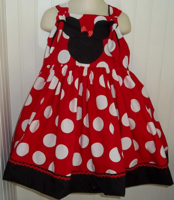 Minnie Mouse Dots Boutique Dress Size 2t 3t 4t 5 6