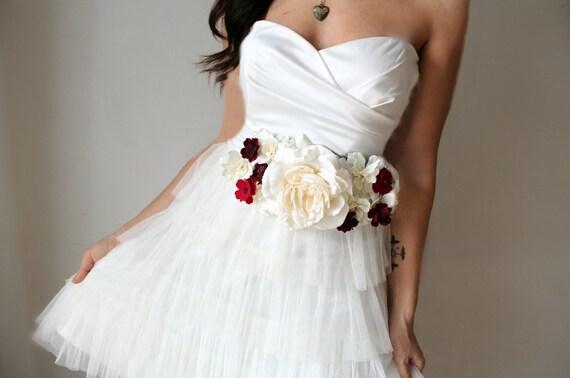 Items Similar To Bridal Sash, Wedding Flowers, Ivory