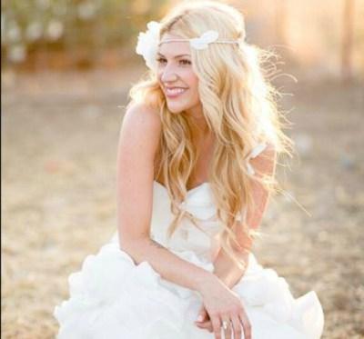 wedding tiara flower crown white whimsical fairy wedding by deloop