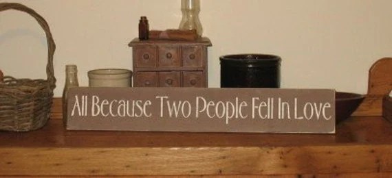 Download All Because Two People Fell In Love WOOD SIGN Decor Wedding