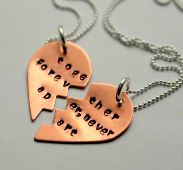 Bff Necklace Friend Necklaces Heart Jewelry