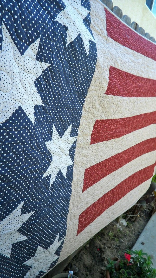 Red White And Blue American Flag Quilt