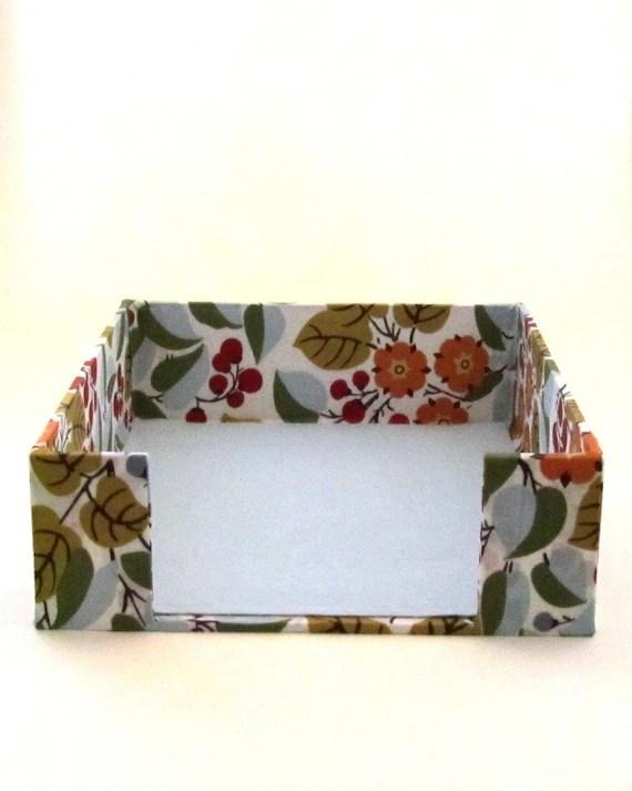 Fabric Wrapped Desktop Organizer Paper Tray Inbox Desk Set