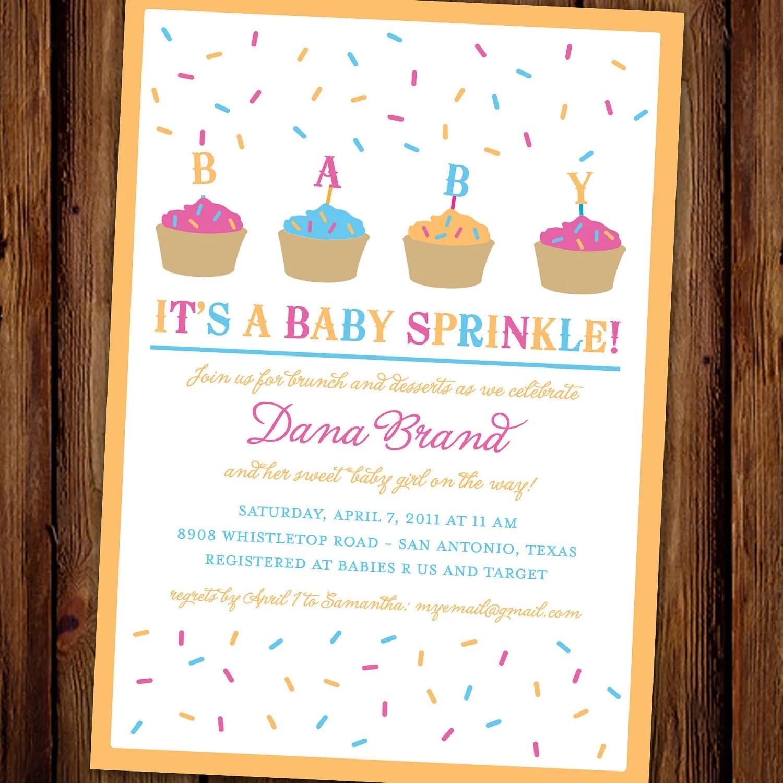 Girl Sprinkle Invitation Wording