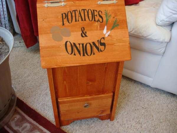 Custom Potato And Onion Bin