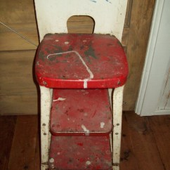 Vintage Cosco Step Stool Chair Victorian Style Covers Keenco Metal Chair.