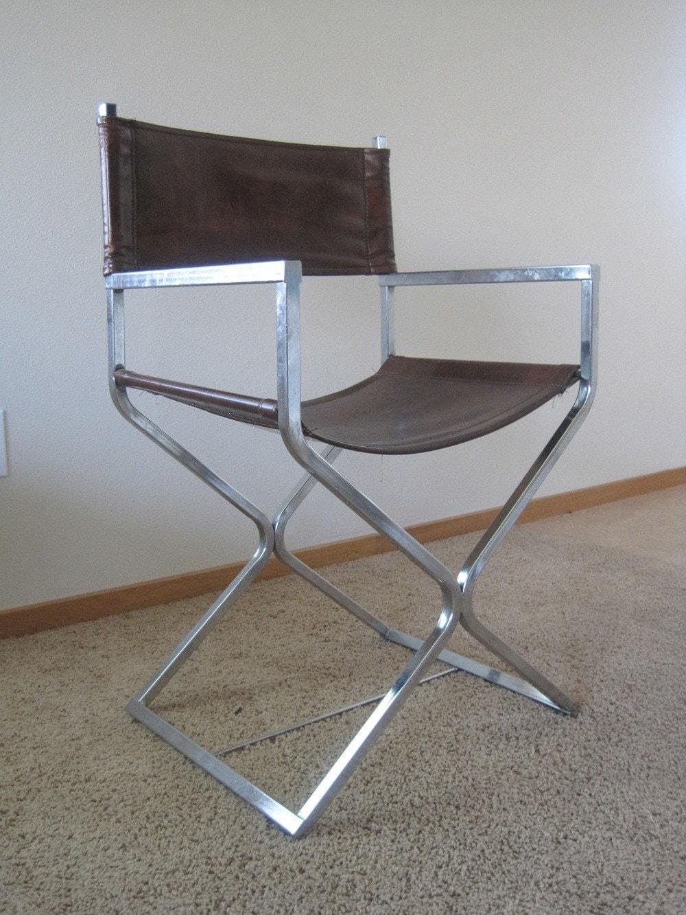 Vintage Chrome Directors Chair