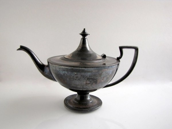 Antique Silver Plated Teapot Eureka . Camrond