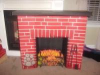 Vintage Christmas Cardboard Fireplace