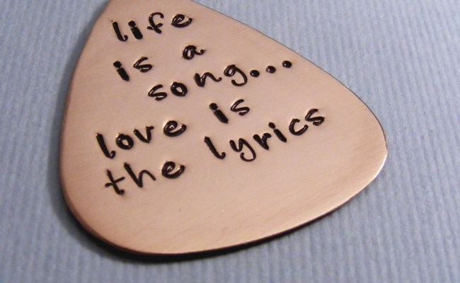 Personalized Guitar Pick Custom Pick For Him Music Lovers