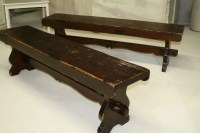 Distressed Wood Bench by autumnrollick on Etsy