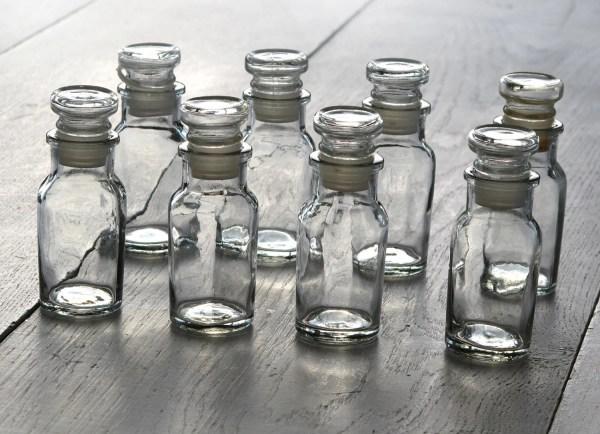 8 Vintage Glass Spice Jar Beads Storage