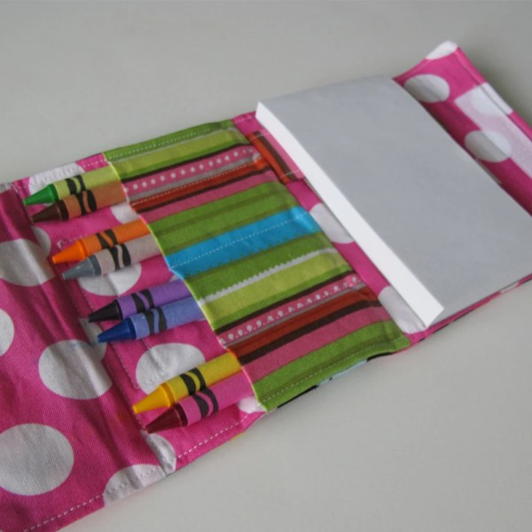 Crayon And Paper Small Coloring Wallet Pdf Pattern