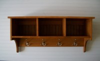 Wall Cubby Coat Rack Mudroom Entry Way Handcrafted