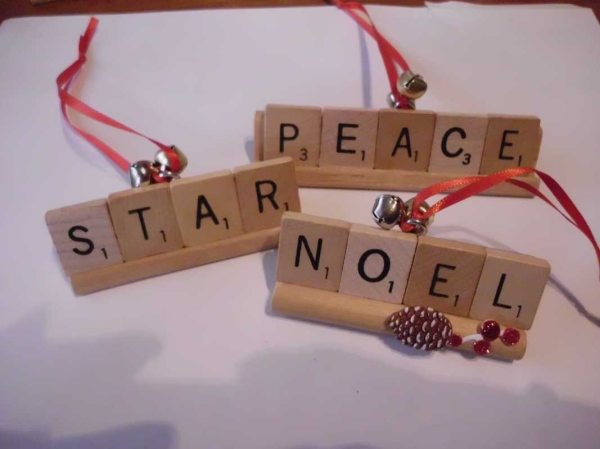 Holiday Scrabble Ornament