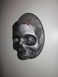 Items similar to Haunting Gothic Skull Sconce Candle