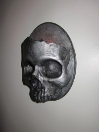 Items similar to Haunting Gothic Skull Sconce Candle ...