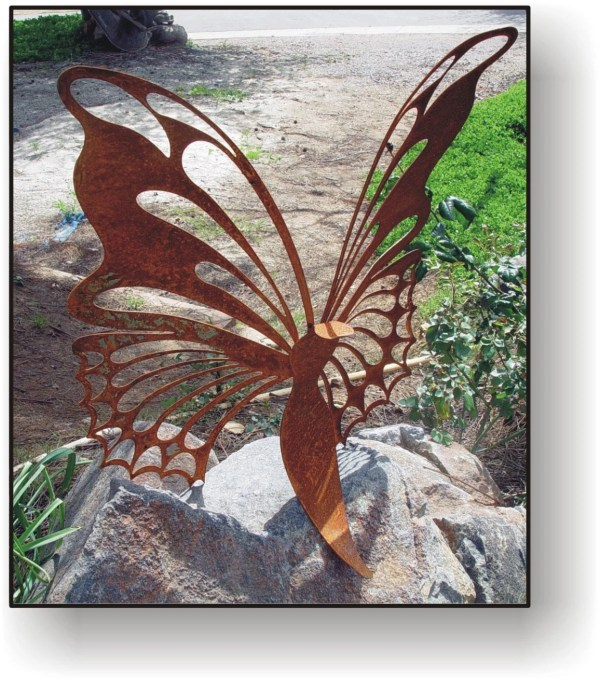 Metal Butterfly Yard Art