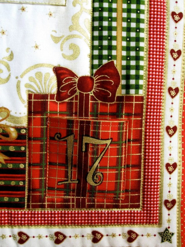 Quilted Advent Calendar Angel Wall Hanging Heirloom