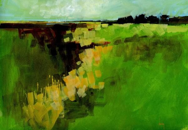 original landscape painting semi-abstract