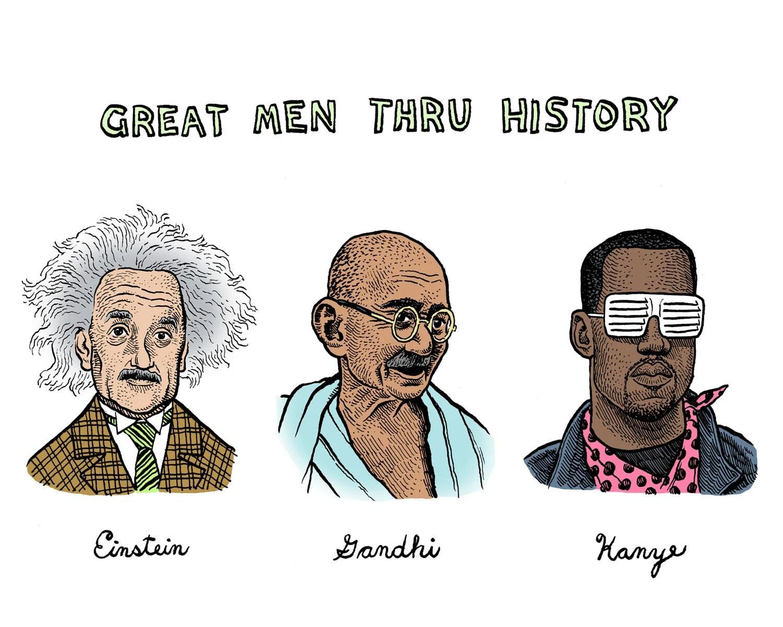 Great Men Thru History - 10x8 Print - PerfectCursive