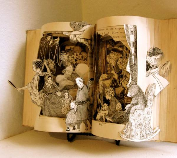 Altered Book Fairy Art