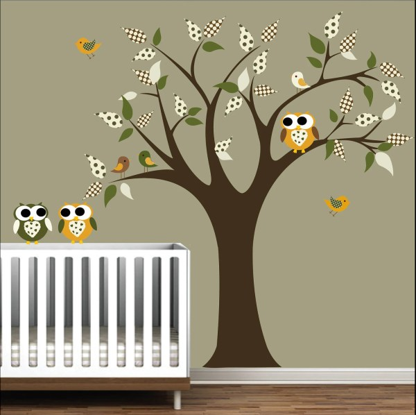 Owl and Tree Nursery Wall Decals
