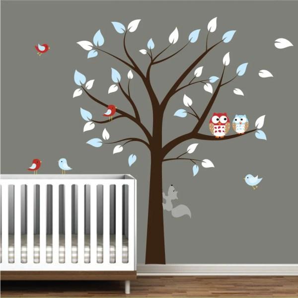 Vinyl Tree Wall Decals Nursery