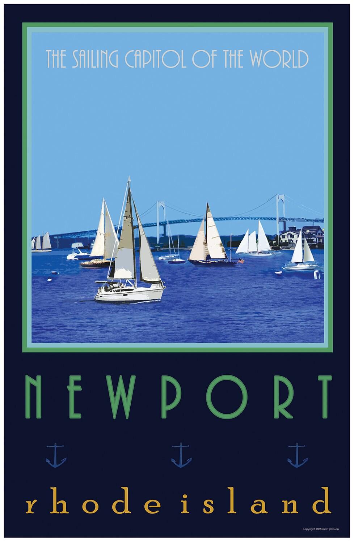 Wall Art Newport Rhode Island Old Style Travel Poster