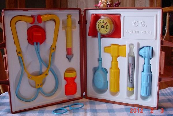 Vintage 1977 Childrens Medical Kit Fisher