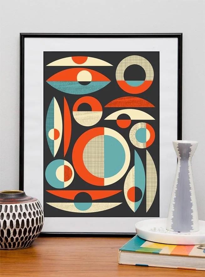 Mid Century Modern poster mid century print Abstract art