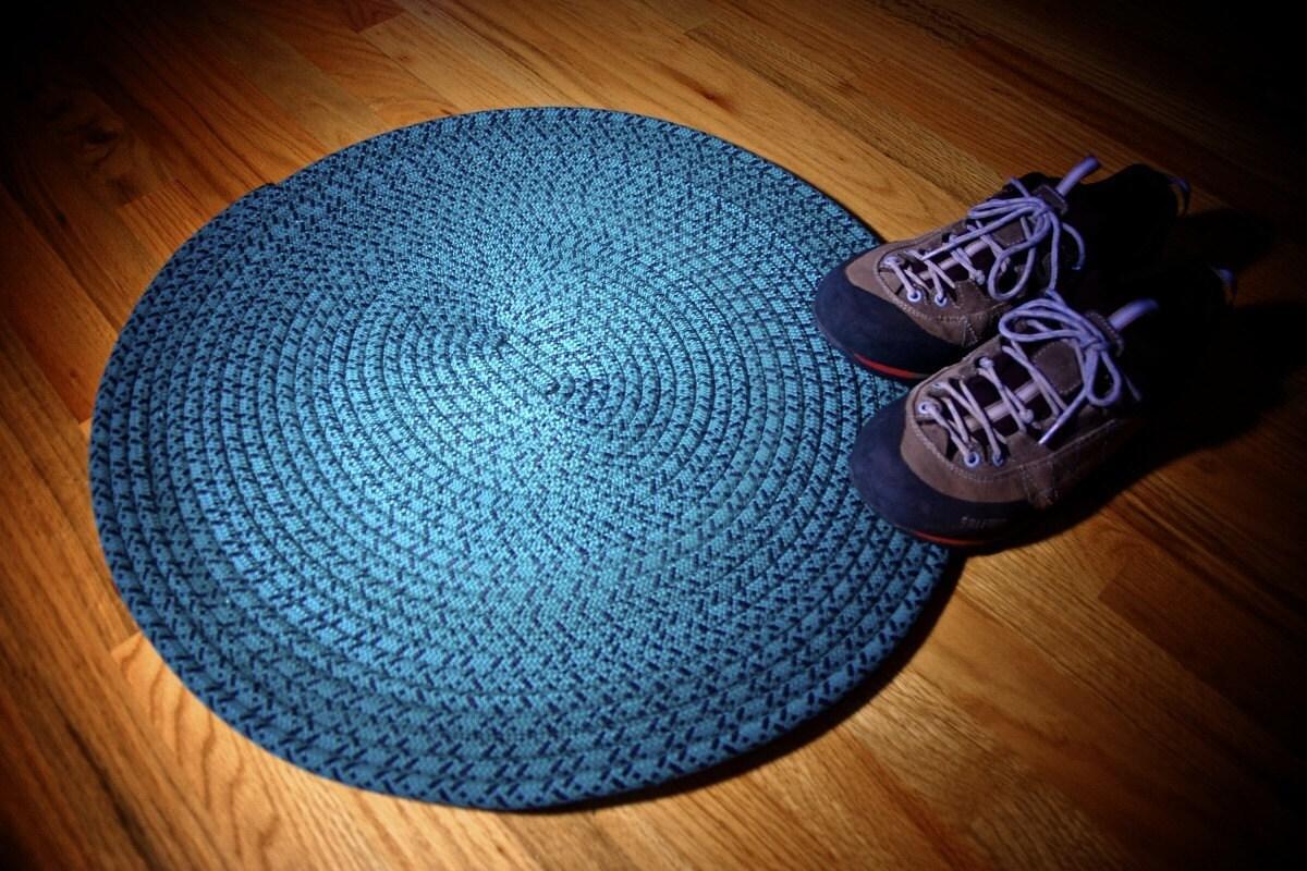 recycled climbing rope  yoga mat rug