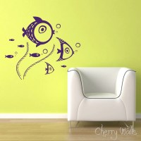 Fish wall decal Fish and Seaweed decals for nursery