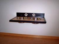 Elevated Wall mounted Dog Dish Holder