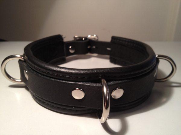 Bondage Collar With 3 -rings