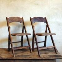 Fold Up Mid Century Wood Folding Chairs