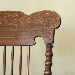 Rocking Chair Cushion Pattern Metal Garden Chairs Antique Lodge / Pressed Back Spindle