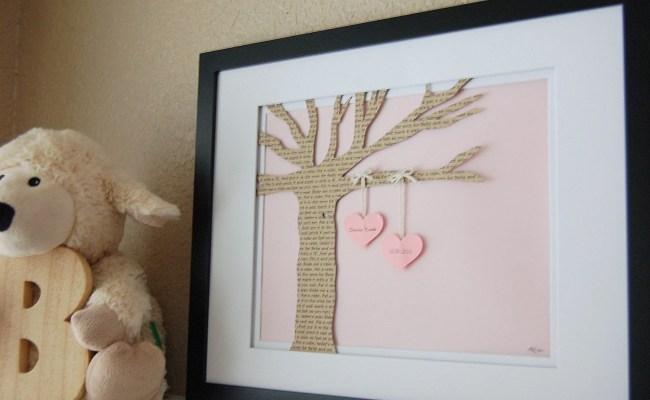 Nursery Decor For New Baby Framed Nursery Art Paper Lullaby