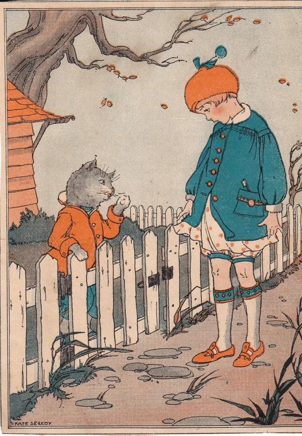 Vintage Children Book Illustration